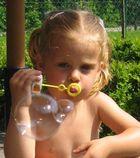Blowing bubbles...
