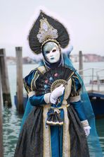Blue and white MASK