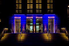 Blue entrance