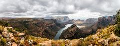 Blue Eyed River Canyon Panorama