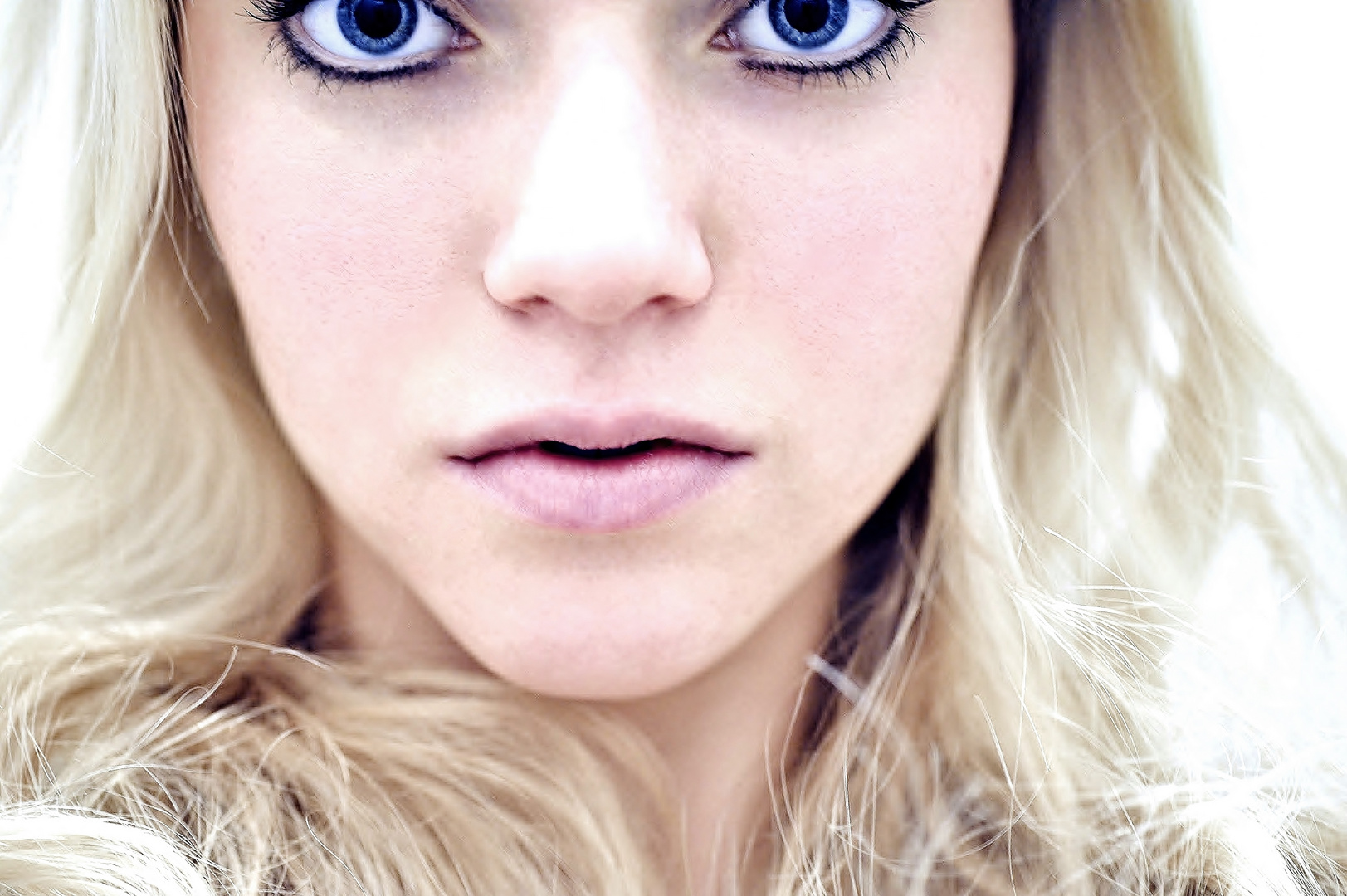 Blue eyes. Blue sky.