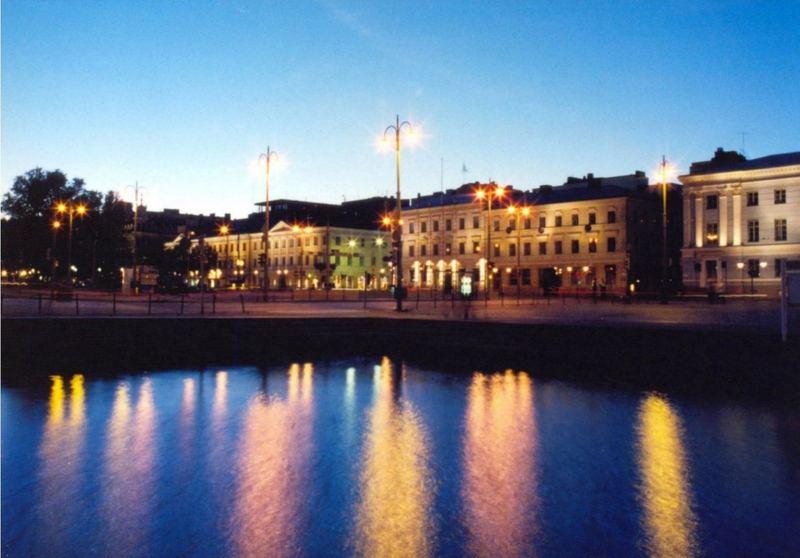 blue hour in Helsinki