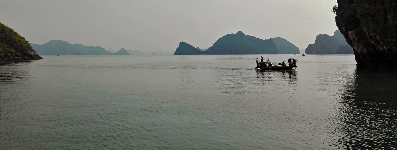 Blue light in Halong Bay