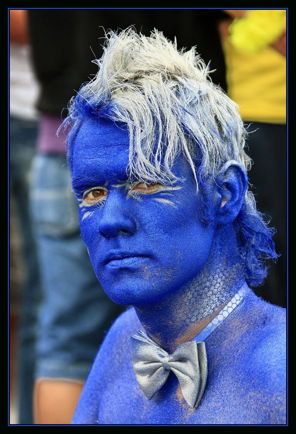 """Blue Man"""
