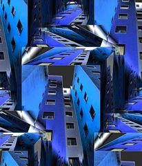 Blue Metallic City