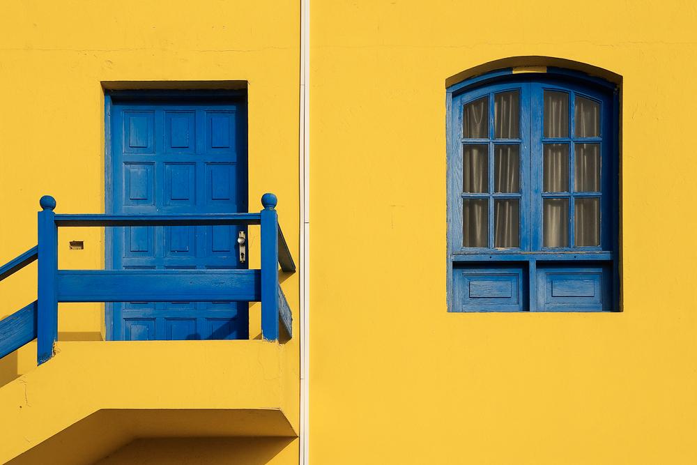 Blue on Yellow