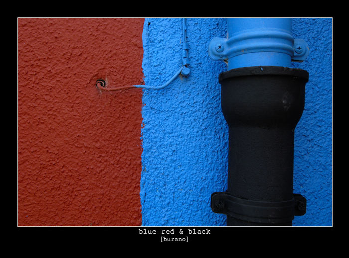 Blue red & black