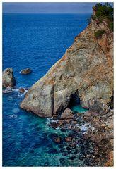 Blue sea cliff