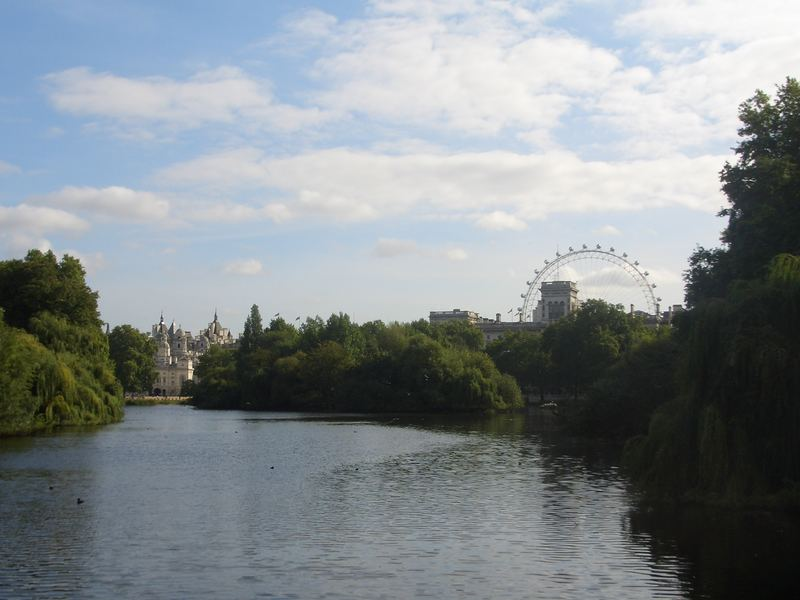 Blue Sky.. Green Trees.. And The London Eye..
