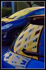 Blue Yellow Cars