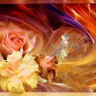 Blüten im Flammentanz