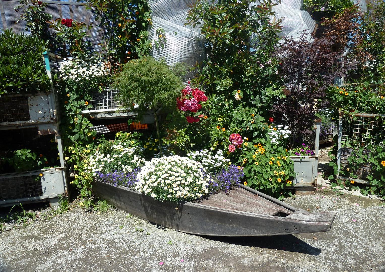 Blumen-Boot