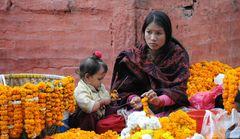 Blumen für den Tempel