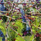 Blumen-Mikado an der Floriade in Venlo