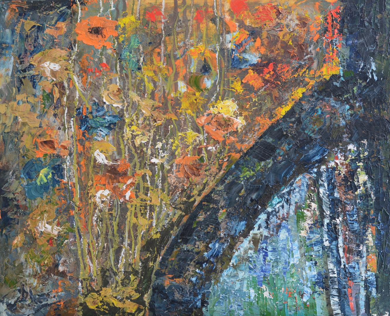 Blumen mit Baum