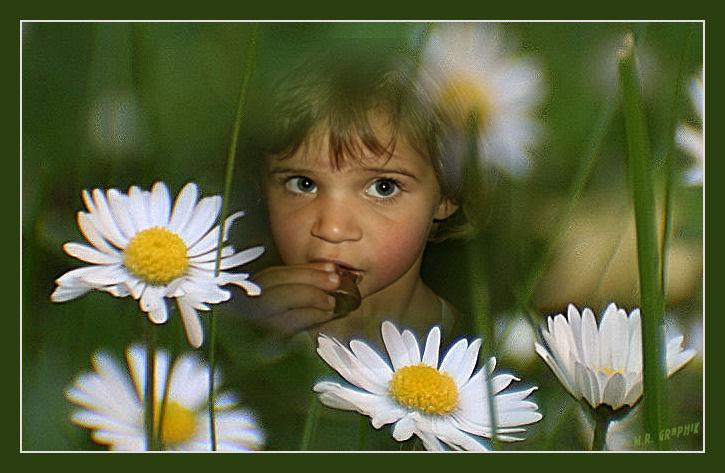 Blumen und Kinder,...