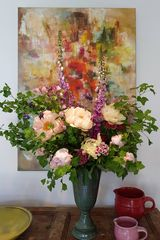 Blumenarrangement zum Sonntag