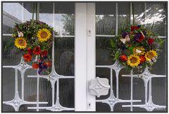 Blumendekoration für meine Haustüre
