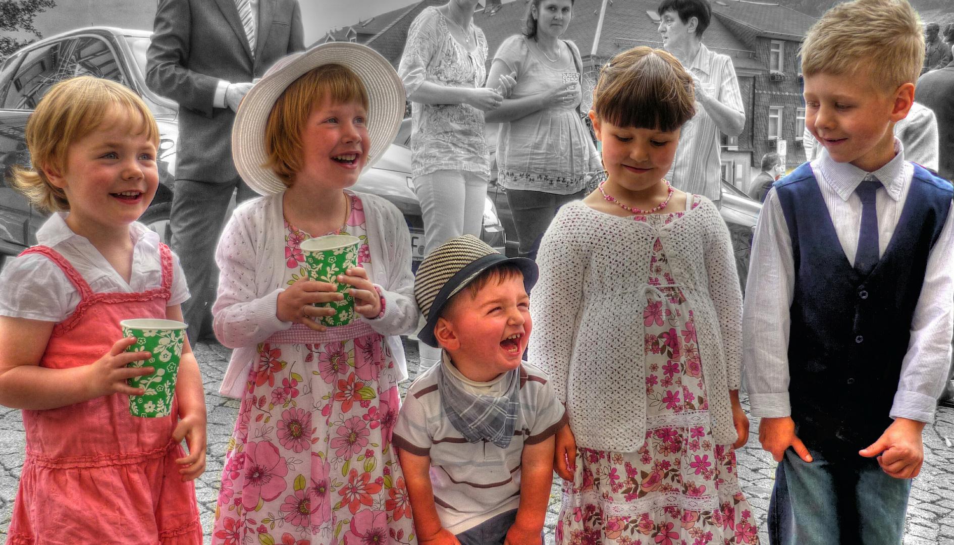 Blumenstreukinder