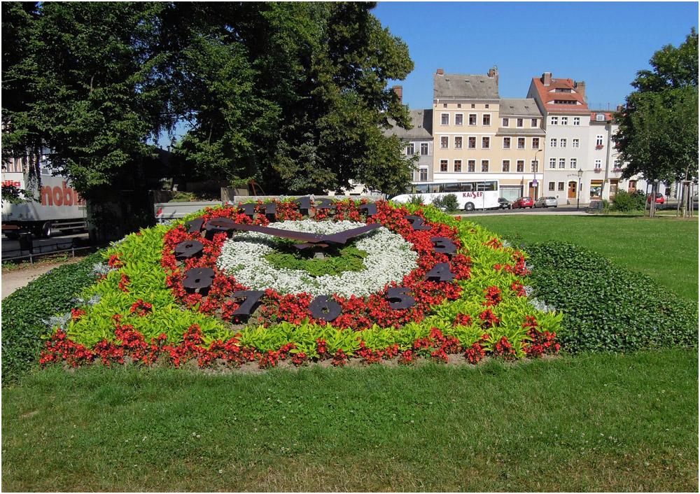 Blumenuhr in Görlitz