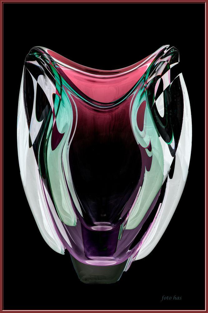 Blumenvase mit Farbeffect