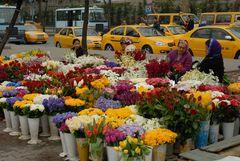 Blumenverkäuferinnen in Istanbul