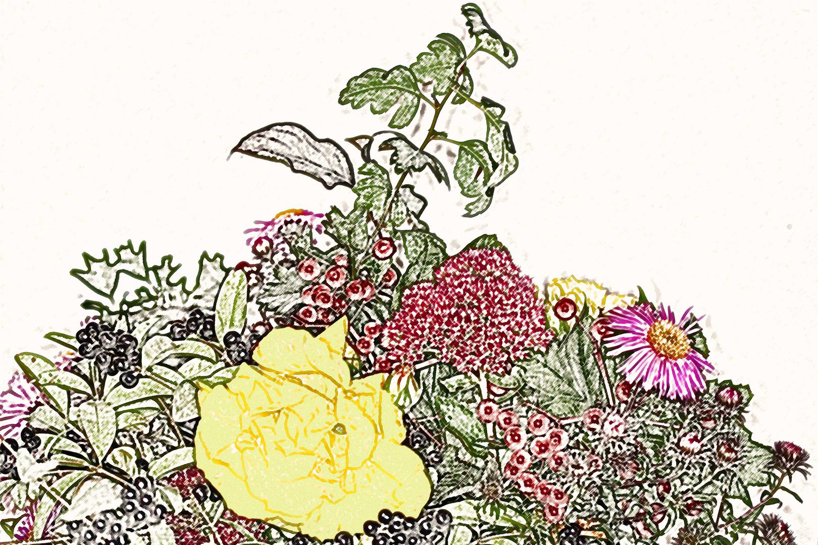 Blumenzeichnung