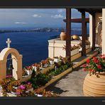 Blumiger Morgen auf Santorin