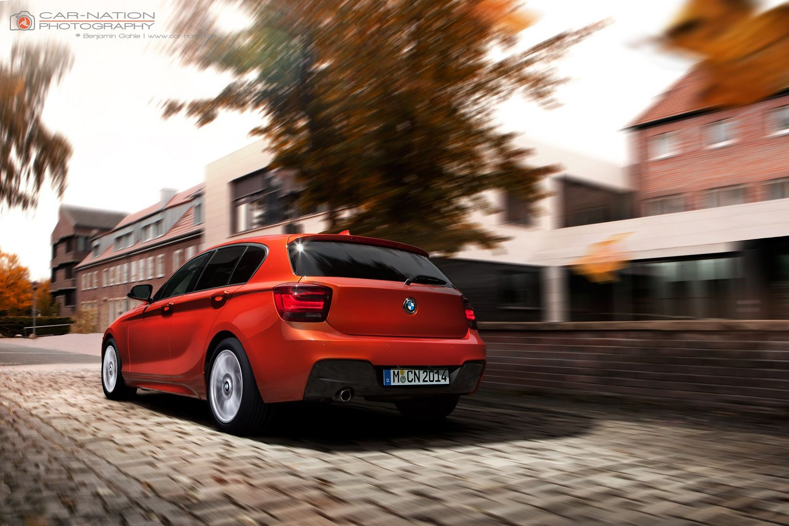 BMW 120d in motion