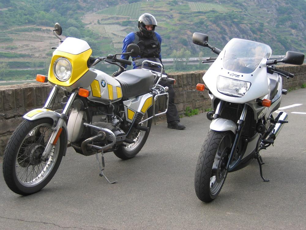 BMW R80ST + Kawa GPZ500S