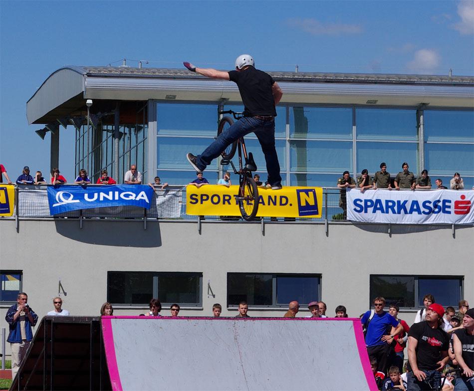 BMX Fahrer auf der St. Pöltner Sportmesse