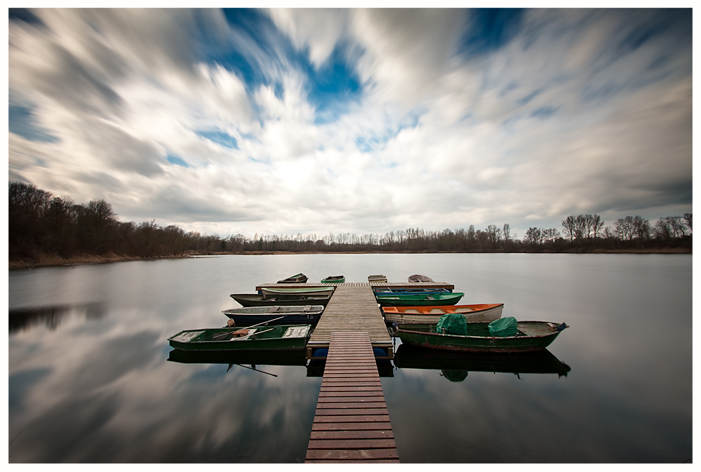 Boats and Clouds I