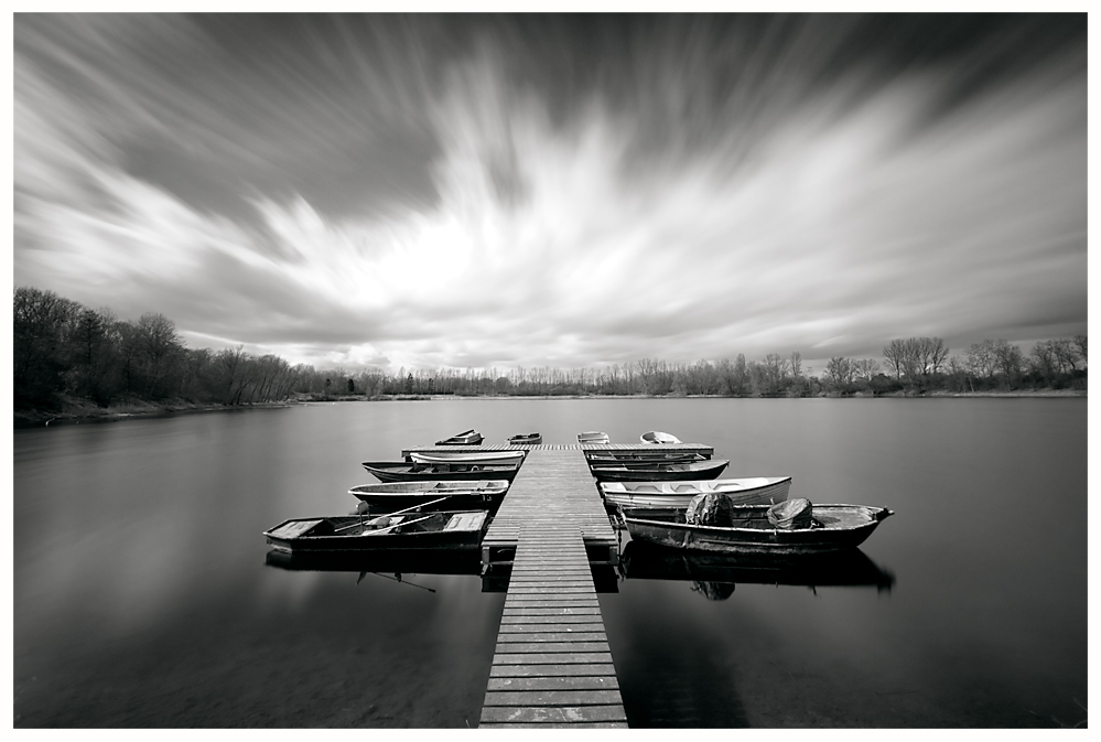 Boats and Clouds II