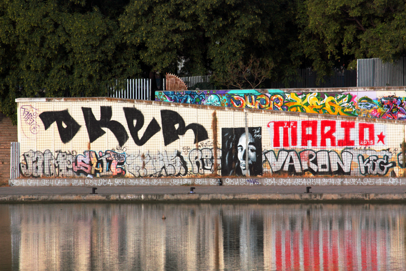 bob marley en graffiti al rio