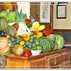Bodegon de frutas y verduras