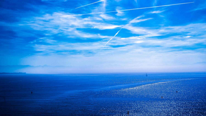 Bodensee mit Himmel