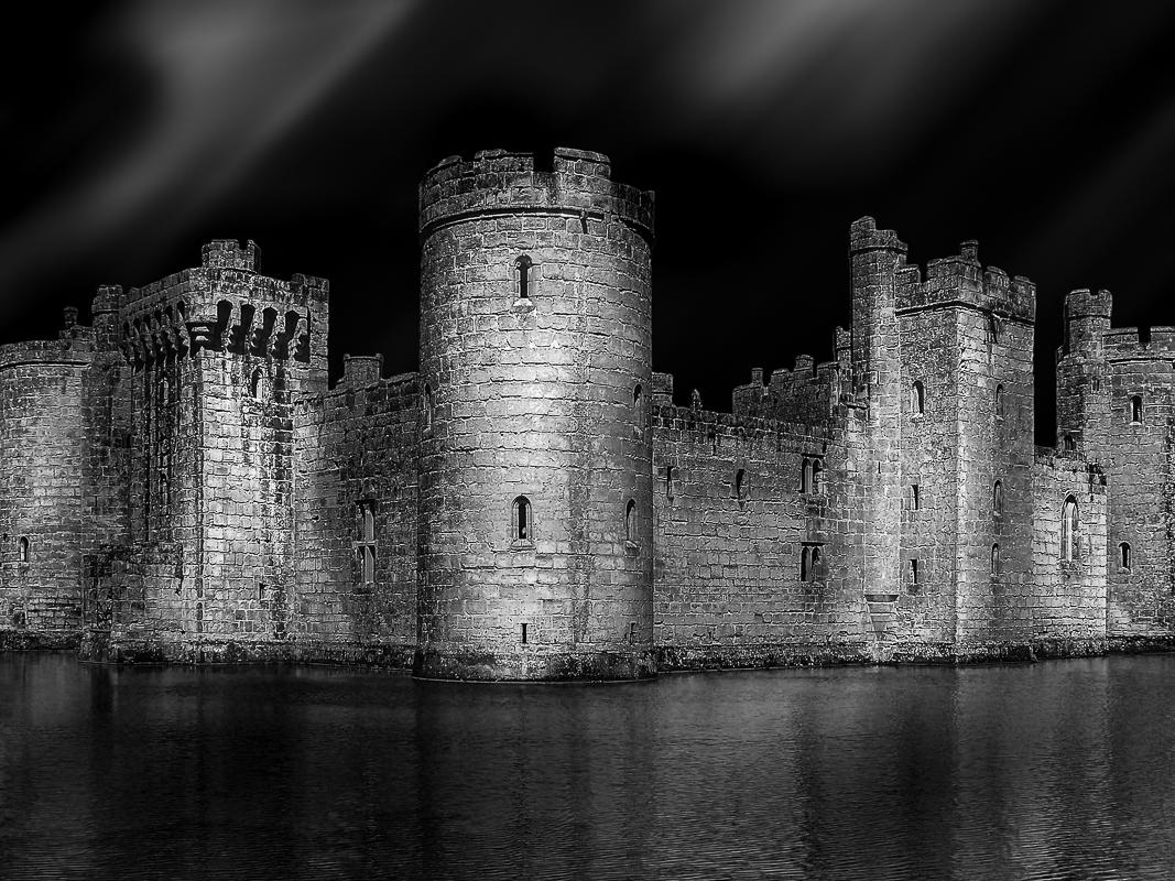Bodiam Castle, Sussex, Südengland