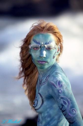 Bodypainting-Meerjungfrau