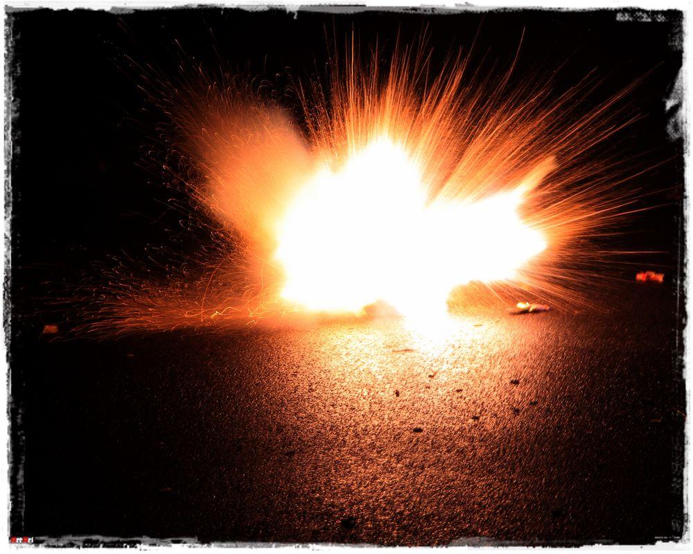 Böller Explosion
