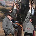 Böllerschützen auf der Wiesn vor der Bavaria