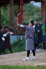 Bogenschiessen in Thimpu