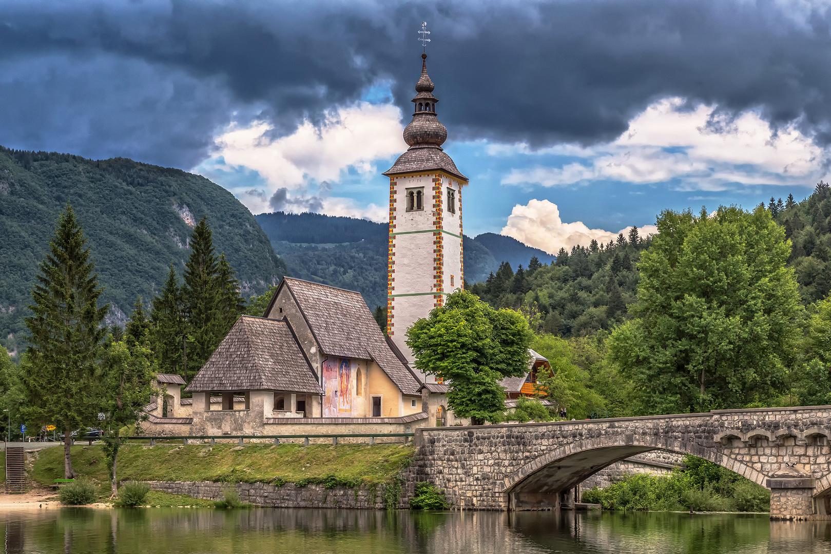 Bohinj Kirche Johann der Täufer