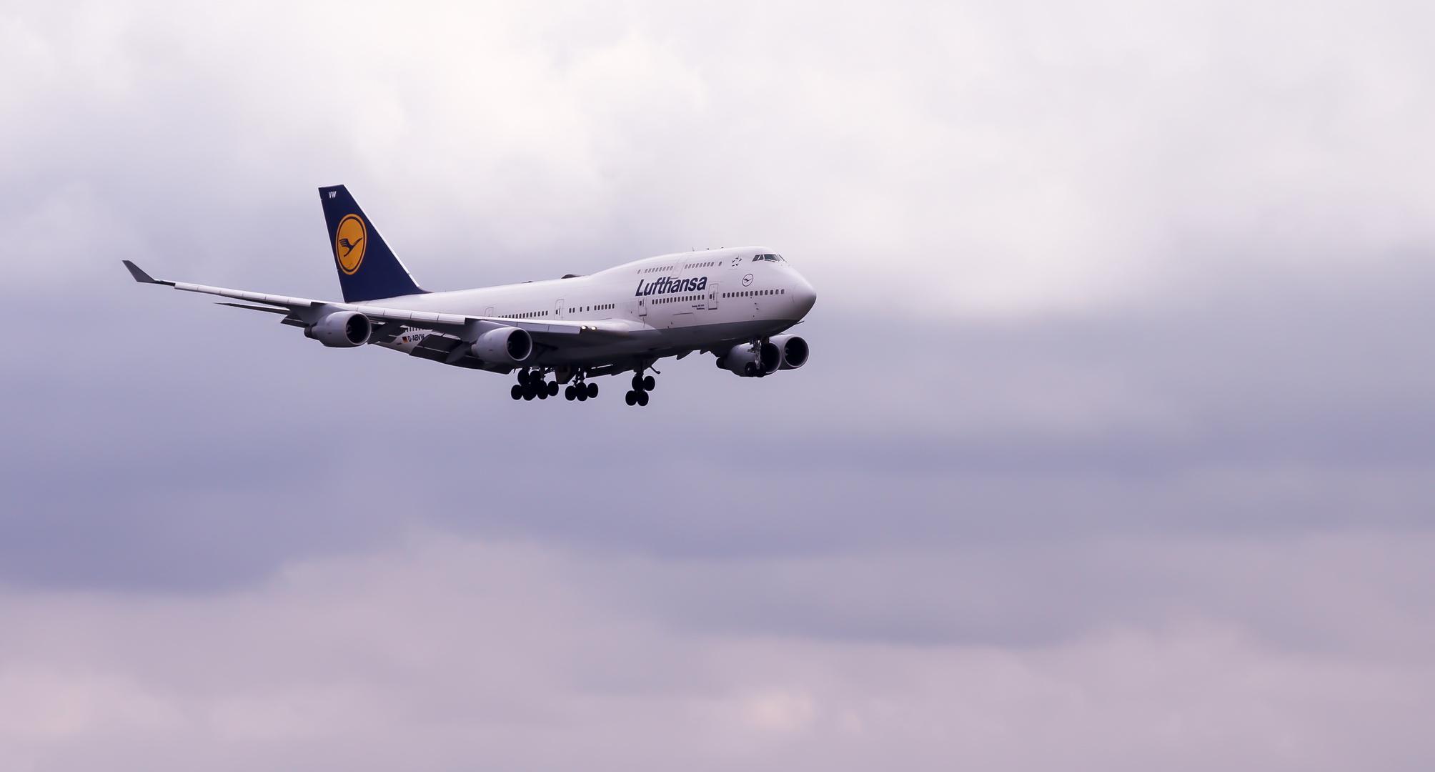 Boing 747 im Anflug