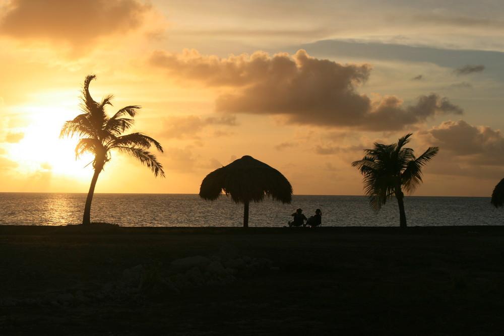 Bonaire - Sonnenuntergang am 21.12.2007 - Kings Beach Resort