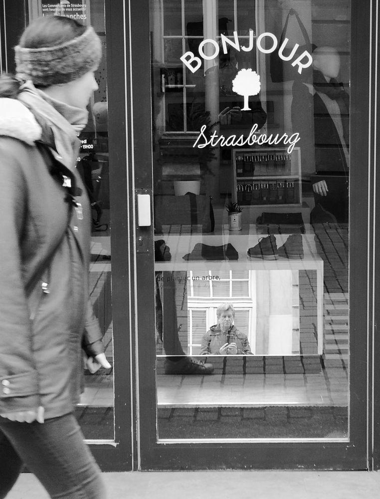 Bonjour de Strasbourg P20-19-sw +8Fotos