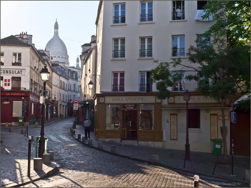 Bonjour Paris in bunt