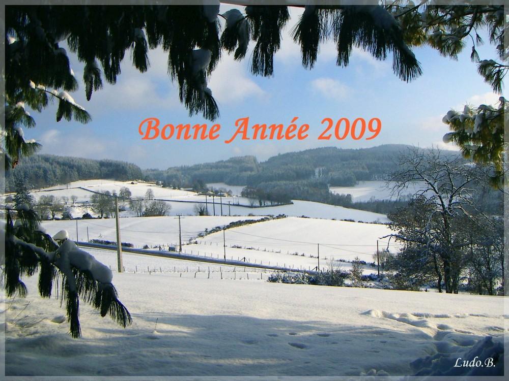 Bonne et heureuse année 2009 à tous!!