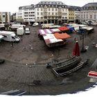 Bonner Markt bei Regen