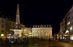 Bonner Marktplatz bei Nacht