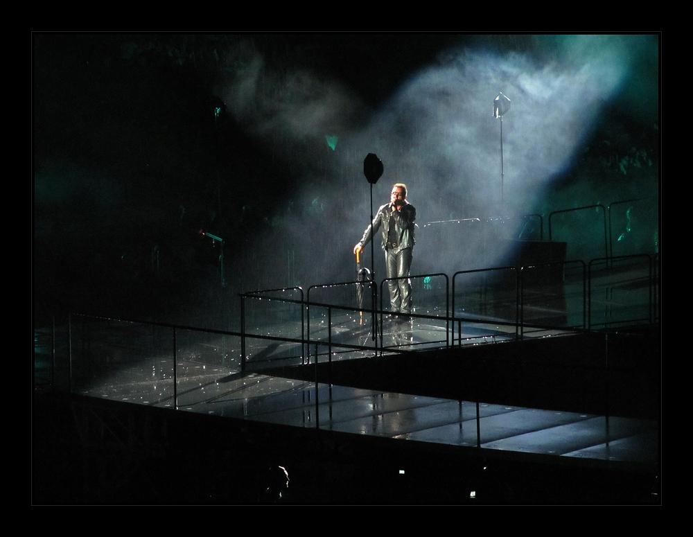 Bono is singing in the rain